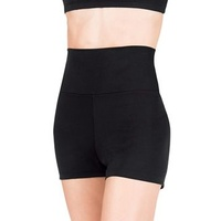 TB131C Capezio High Waisted Short - BLK - MED