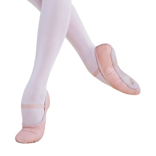 BSC01 Energetiks Full Sole Leather Ballet Shoe - PNK - 1B