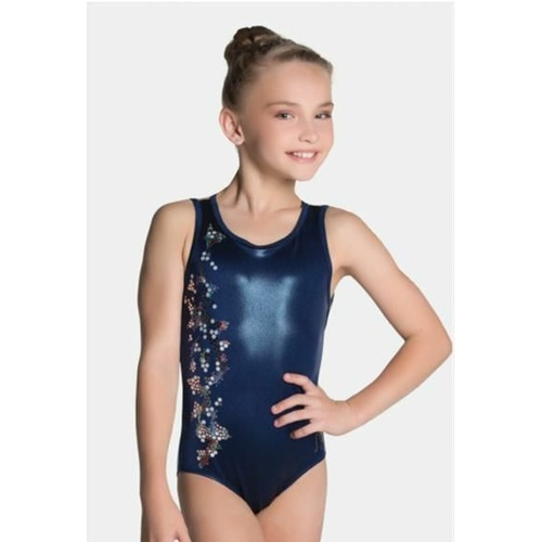 Sylvia P Midnight Pearl Leotard  - NVY - 10
