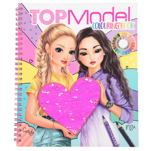Top Model Sequin Colouring Book