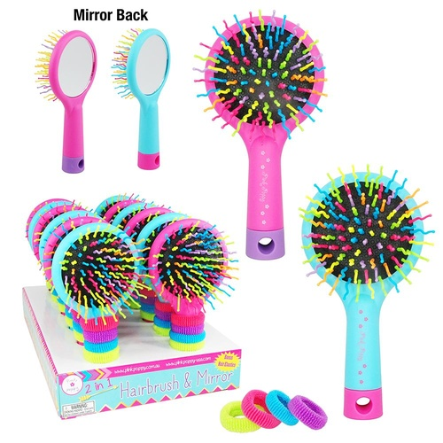 DMA301 Hairbrush With Mirror And Elastics