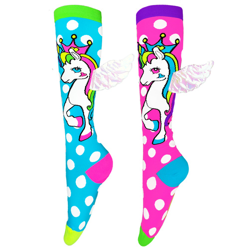 Madmia Flying Unicorn Socks with Wings - MLT - OS